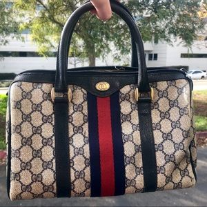 Gucci Bags - VTG 1980's Authentic GUCCI Navy Boston Doctor Bag